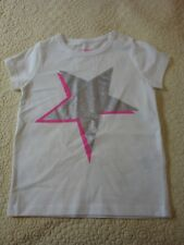 NWOT Mini Boden 2-3Y, 3-4Y Girls White SL Shirt with Silver Star