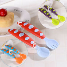 2pcs Newborn Baby Toddler Feeding Spoon Fork Set Flatware Tableware Feeding Tool