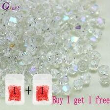 Buy 1 and get 1 free 100pcs Colorful 4mm Bicone Crystal Beads Glass Beads Loose