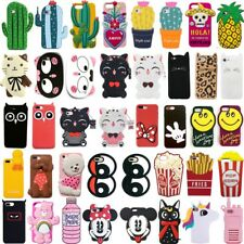 New 3D Cute Animals Plant Cartoon Soft Silicone Case Cover Back Skin For iPhone
