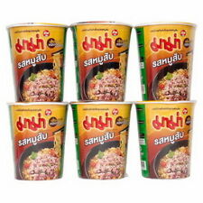6pcs x Mama Noodle Soup Cup Thai Food&Hot&Spicy Made in Thailand