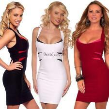 Womens Cross Back Fitted Bandage Clubwear Cocktail Party Dress BTL8