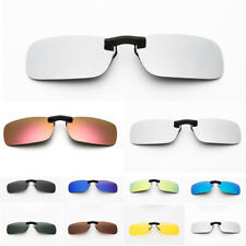 Polarized Clip On Sunglasses Driving Day Night Vision for Myopia Glasses Shades