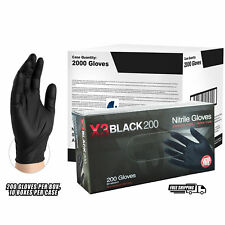 AMMEX BX3 Black Nitrile Industrial Latex Free Disposable Gloves, Case, 2,000