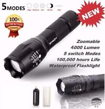 Tactical LED Flashlight G700 SkyWolfeye X800 Zoom Super Bright Military Grade