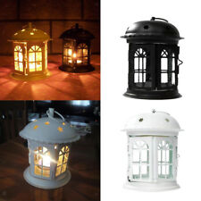 Retro Lantern Tealight Candle Holder Indoor/Outdoor Yard Patio Hanging Tabletop