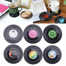 Vinyl CD Record Coaster Groovy Cup Drinks Holder Mat Tableware Placemat 1PC