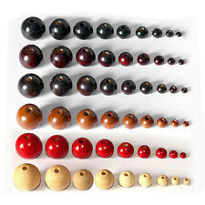 100pcs Round Wood Beads Ball Spacer Loose DIY Craft Jewelry Necklace Bracelets