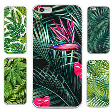 FT- Green Leaf Print Case Cover for iPhone 5C 6S 7 Plus Samsung Galaxy S6 S7 Eye