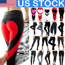 Ladies Women Yoga High Waist Leggings Trousers Fitness Sports Running Gym Pants