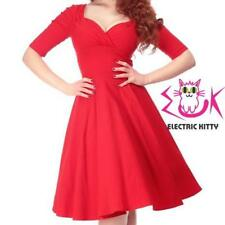 Collectif Trixie Doll Swing Dress Red Vintage Pin-Up Rockabilly Party Retro NEW