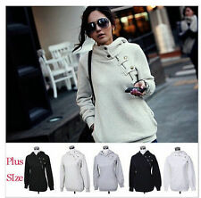 6 Color Women Plus Size Casual Pullover Hoodie Jacket Sweater Coat Jumper Hooded
