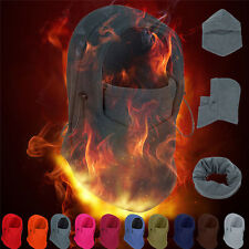 Fleece Balaclava Hood Swat Ski Mask Bike Beanies Winter Wind Stopper Face Hats X
