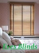 MADE TO MEASURE Light Oak Wooden Venetian Window Blind With Tapes