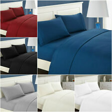4-piece Satin Cotton Bedding Sets Duvet Cover + Fitted Sheet + Pillow cases Bed