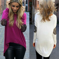 Loose Tops Fashion Womens Round Neck Long Sleeve Shirt Casual Blouse