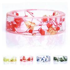 Dried Flower Resin Ring Dried Flower DIY Ring Fresh 1 Pcs High Quality Fashion