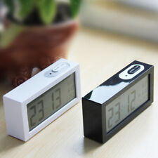 LCD Digital Electronic Alarm Clock Backlight Time with Calendar+ Thermometer