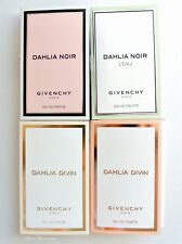 Lot of 4 Givenchy Women's Fragrance Samples 0.03 Oz (1 ml) Each
