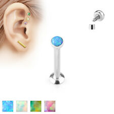 Piercing Labret Stud 4mm / 6 mm/8 mm Made of Stainless Steel Surgical synth.opal