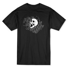 Skull Screaming Spiderweb Background Men's Black T-shirt
