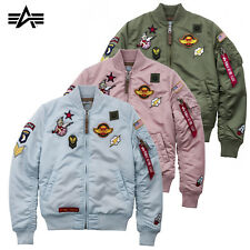 Alpha Industries Women's Jacket MA-1 VF Patch Bomber NEW