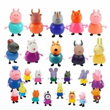 21Pcs Pe ppa Pig Family Friends Emily Rebecca Suzy Action Kid Gift Figures Toys
