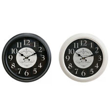 "Round 40cm ""Chef Le Normand"" Black & White Metal Kitchen Wall Clock"
