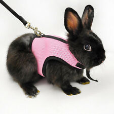 Hamster Rabbit Guinea Pig Rat Ferret Small Pet Breathable Harness Leash Lead ju