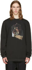 50% OFF | DAMIR DOMA TAITT FACE LONG SWEATSHIRT JUMPER BLACK DISTRESSED