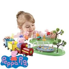 PEPPA PIG - PEPPA PIG'S FUN IN THE PARK PLAYSET - TRAIN, SEE SAW, POND, FIGURES