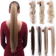 US Lady Clip In Ponytail Pony Tail Hair Extensions Claw On Hair Piece curly AP5