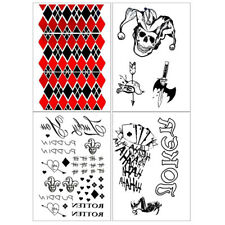 Temporary Tattoo Suicide Squad Harley Quinn Joker Fashion Spray Waterproof