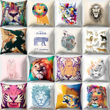 18'' Animal Lion Throw Pillow Case Pillow Cover Cushion Cover Home Deco Surprise