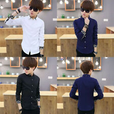 Slim fit Long sleeved Casual Men's Shirts Korean styles cotton shirt