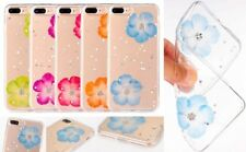 For Apple iPhone 7G/7+ /8G/8+ Real Flower Dried Flower Thick TPU Back Case Cover