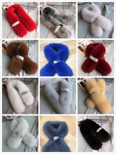 Women Winter Genuine Fox Fur Scarf Neck Wrap Collar Ladies Shawl Stole Long