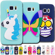 Rubber TPU Skin Fashion Back 3D Soft Cover Silicone Case For Samsung Galaxy S6