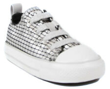 Converse CT Stretch OX First Walkers Baby Girls Silver Black