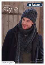 Patons Mens Hat & Scarf Knitting Pattern and Yarn Kit 9 x 50g balls