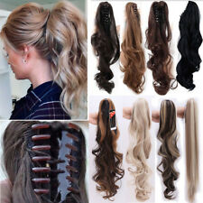 US Clearance Sale Clip in ponytail hair extensions Piece Curly/Wavy Straight AE6