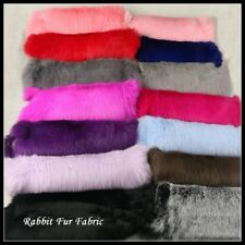 DIY Rabbit Fur Pelt Fabric For Costume Bags Scarf Accessories Crafts Fluffy Soft