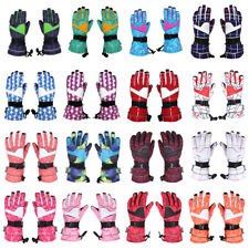 Women Waterproof Double Lock Warm Non-slip Ski Glove Snowboard Sledding