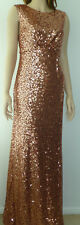 BNWT No.1 Jenny Packham CARRIE Tan Sequin Maxi Evening Party Cruise Dress