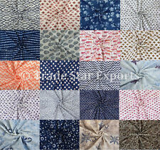 Indian Block Print Cotton Fabric 3 Yards Upholstery Fabric For Dress Making