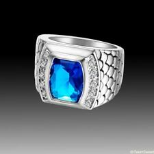 Hot Charm Friendship Gift Jewelry Blue Topaz 925 Sterling Silver Ring size 7 8 9
