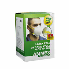 AMMEX NOISH Certified Cone-Style Face Masks (Box of 20 Masks)