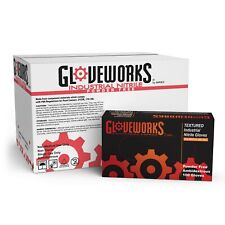 GLOVEWORKS Blue Nitrile Industrial Latex Free Disposable Gloves (Box of 100)