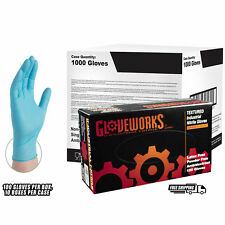 GLOVEWORKS Blue Nitrile Industrial Latex Free Disposable Gloves (Case of 1000)