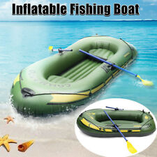 MECO Inflatable Boat 3 Person Water Sports River Fishing Tender Dinghy Raft Set